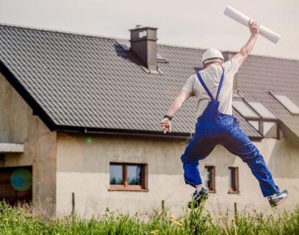 builder jumping