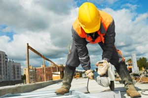 Builder doing construction work