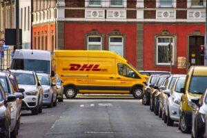 DHL Courier Van