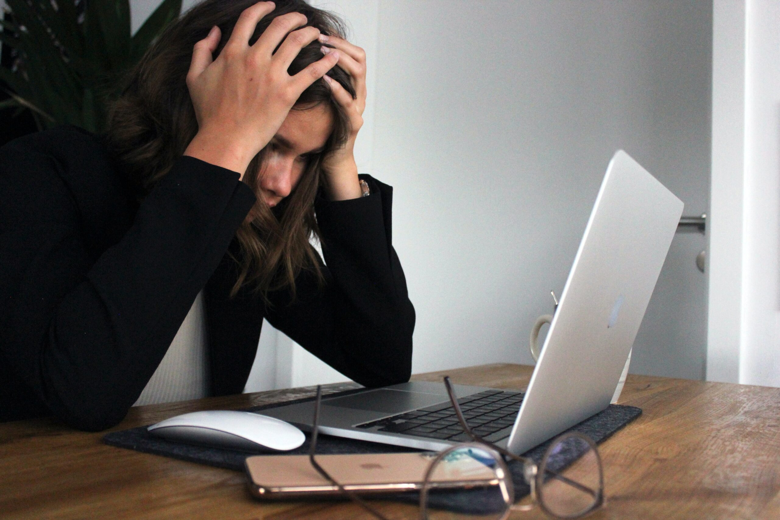 woman worried about employers liability insurance